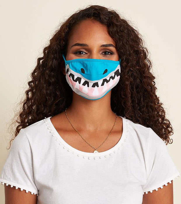 hatley kids face mask shark