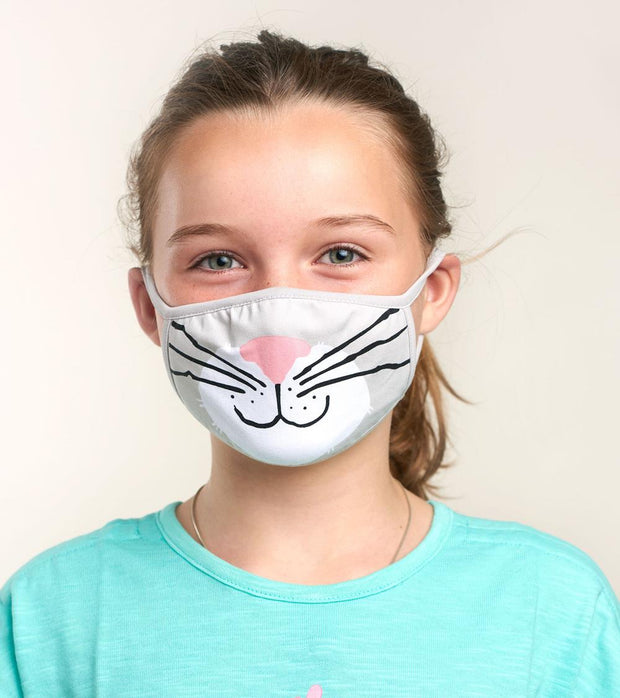 hatley kids face mask cat