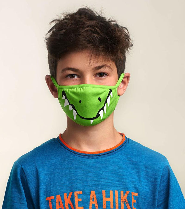 hatley kids face mask crocodile