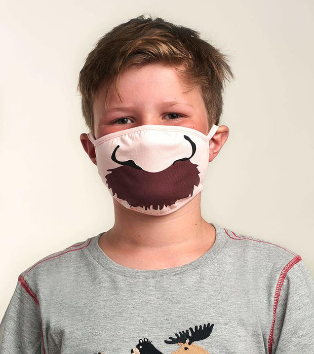 hatley kids face mask mustache