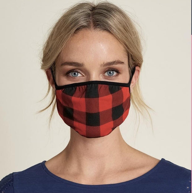 HATLEY -FACE MASK BUFFALO CHECK