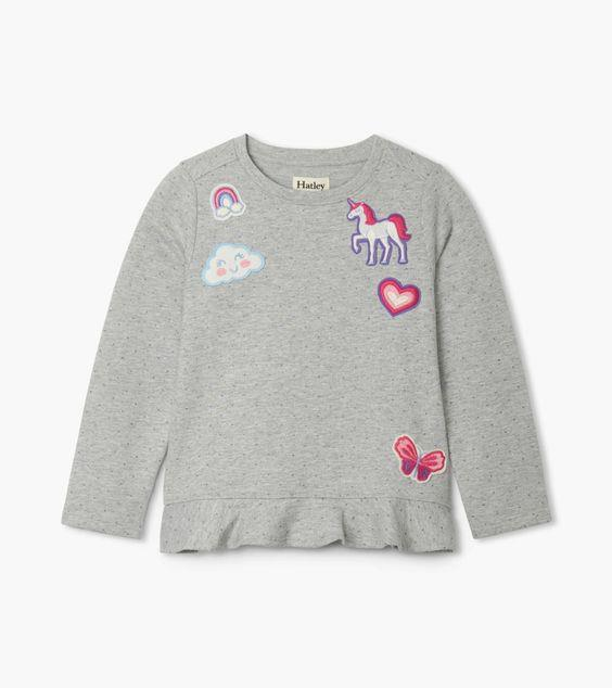 HATLEY- Pretty Patches Flounce Hem Top