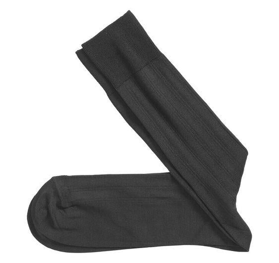 JOHNSTON & MURPHY- PIMA COTTON RIBBED SOCKS
