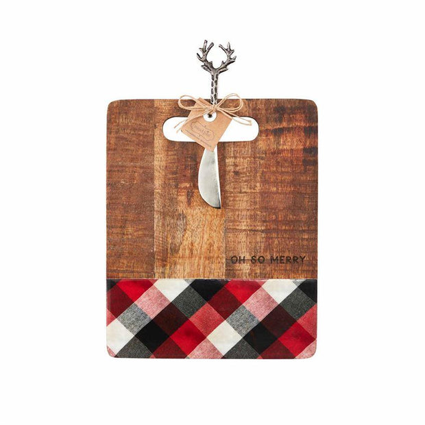 MUDPIE- SO MERRY WOOD SERVING BOARD