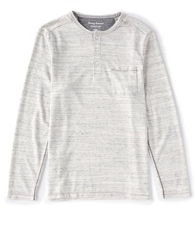 TOMMY BAHAMA- MEN'S Coast Canyon Heathered Long-Sleeve Henley