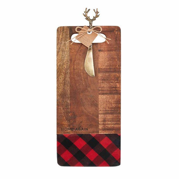 MUDPIE- HOME AGAIN WOOD SERVING BOARD