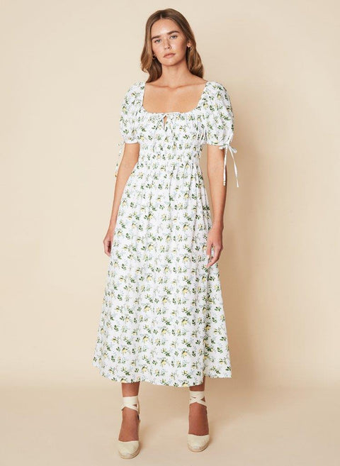 FAITHFULL THE BRAND FLORA MIDI DRESS