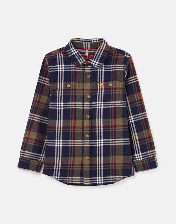 JOULES- HAMISH BRUSHED CHECK SHIRT