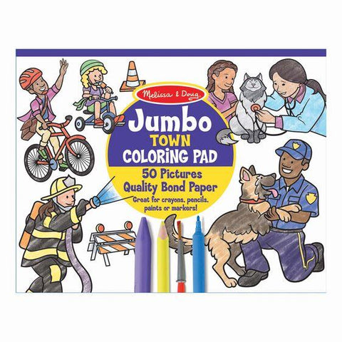 MELISSA & DOUG JUMBO COLOURING PAD MY TOWN