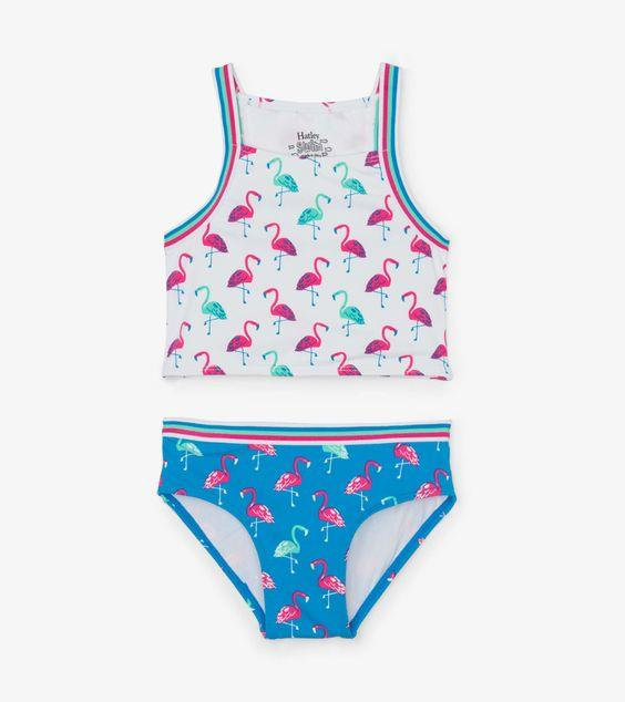HATLEY- Fancy Flamingos Tankini Set