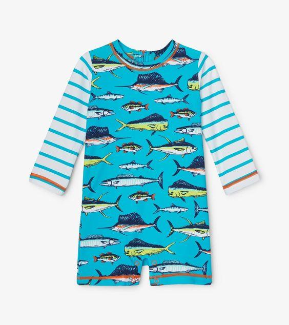 HATLEY- Cool Fish Baby One-Piece Rashguard