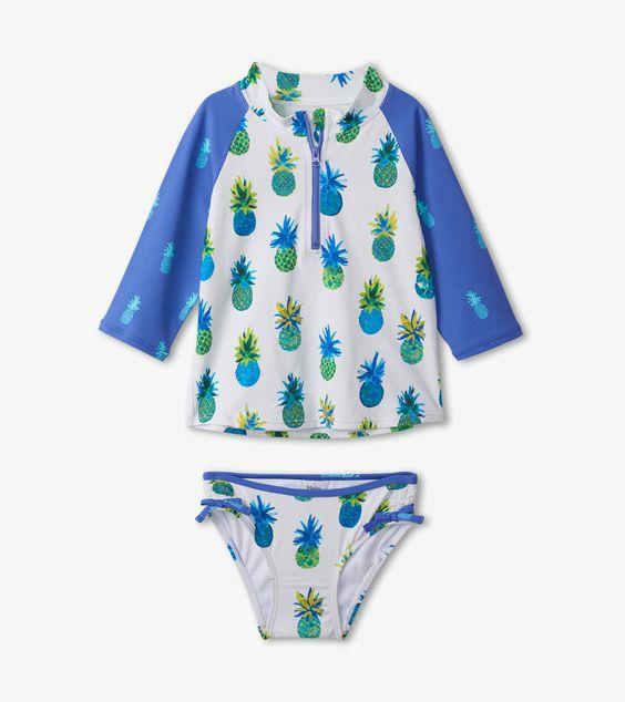 HATLEY- Painted Pineapple Rashguard Set