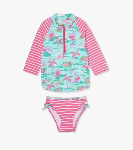 HATLEY- Tropical Mermaids Rashguard Set