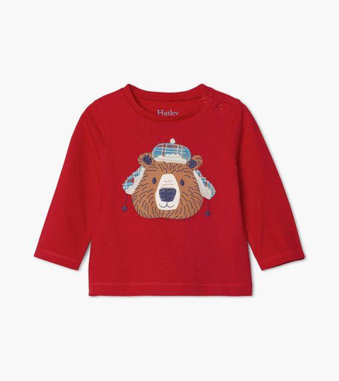 HATLEY- Cozy Bear Long Sleeve Baby Tee