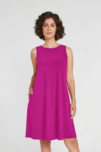SYMPLI- Sleeveless Trapeze Dress