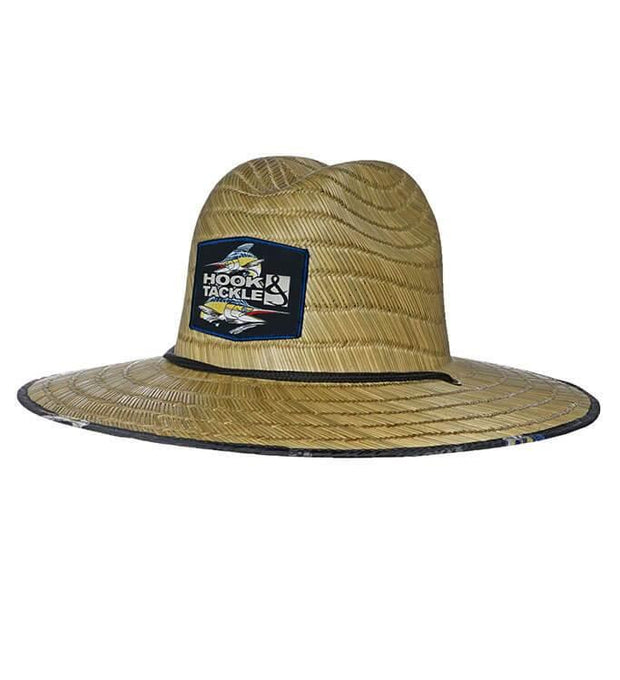 HOOK & TACKLE MARLIN LIFEGUARD STRETCH FIT PREMIUM STRAW FISHING HAT