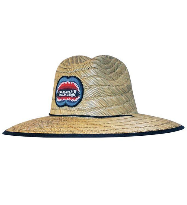 HOOK & TACKLE JAWS LIFEGUARD STRETCH FIT PREMIUM STRAW FISHING HAT