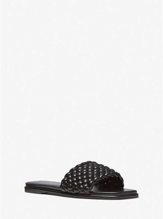 MICHAEL KORS- Amelia Braided Slide Sandal