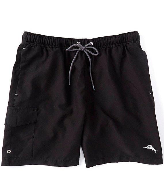"TOMMY BAHAMA Naples Coast Solid 6"" Inseam Swim Trunks"