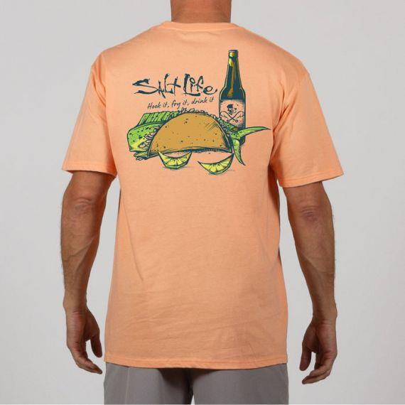 SALT LIFE Hook It Short Sleeve Pocket Tee