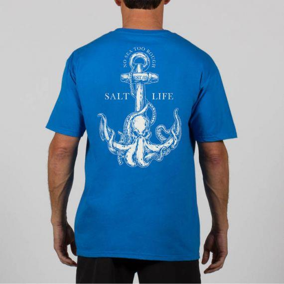 SALT LIFE Octo Anchor Short Sleeve Pocket Tee
