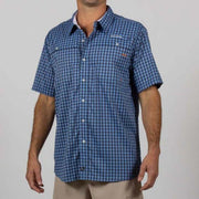 SALT LIFE- Lunker Plaid Performance Short Sleeve Fishing Shirt