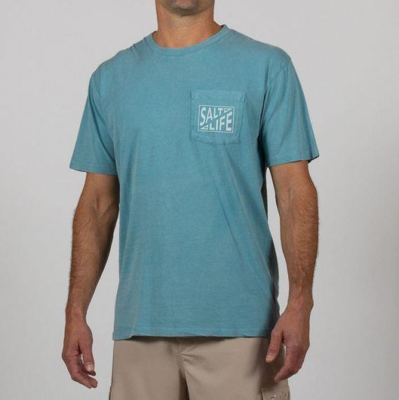 SALT LIFE- Fish Co Salt Wash Pocket Tee