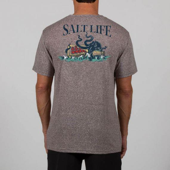 SALT LIFE No Worries Tri-Blend Short Sleeve Tee