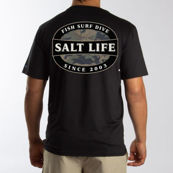 SALT LIFE Rogue Badge Short Sleeve Performance Pocket Tee