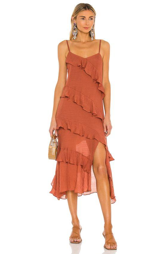 MINK PINK LEAH MIDI DRESS