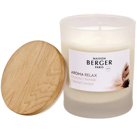 LAMPE BERGER- AROMA RELAX SCENTED CANDLE ORIENTAL COMFORT
