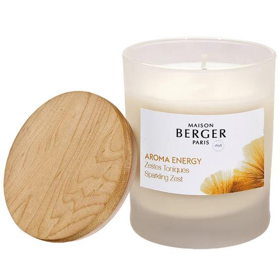 LAMPE BERGER- AROMA ENERGY SCENTED CANDLE SPARKLING ZEST