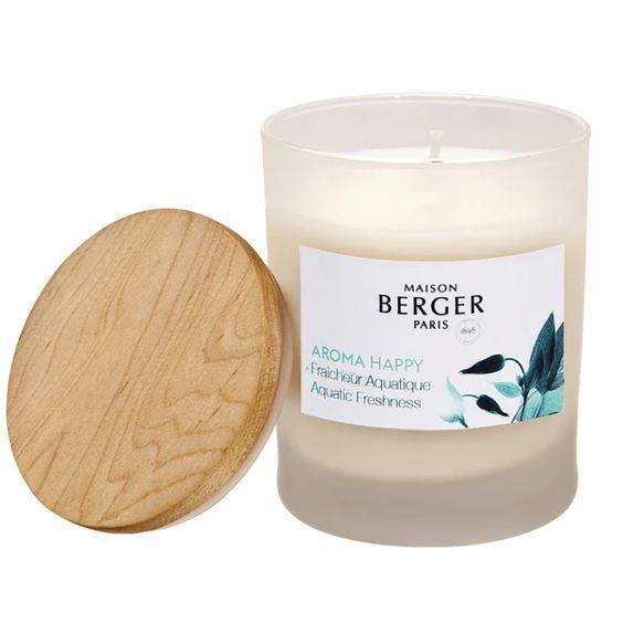 LAMPE BERGER- AROMA HAPPY SCENTED CANDLE AQUATIC FRESHNESS