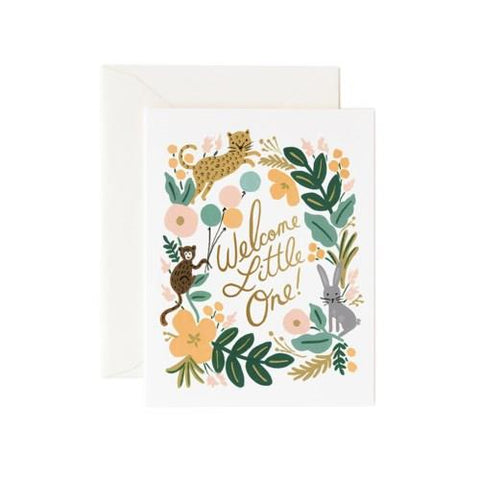 RIFLE PAPER- MENAGERIE BABY CARD