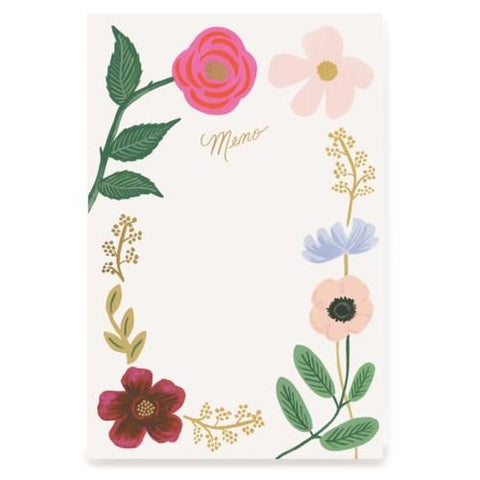 RIFLE PAPER- NOTEPAD WILDFLOWERS MEMO