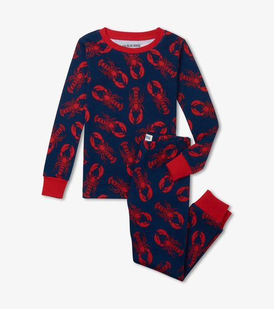 HATLEY NAVY LOBSTER PAJAMA SET