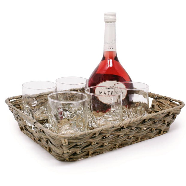 DANESCO COASTAL WOVEN SERVING TRAY