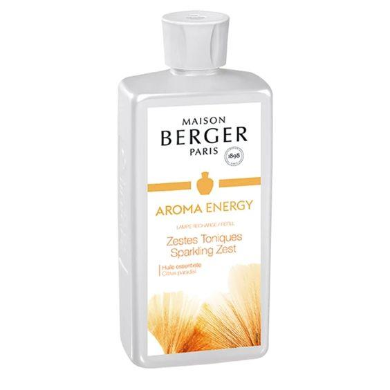 LAMPE BERGER- AROMA ANERGY LAMPE FRAGRANCE- SPARKLING ZEST 500ML