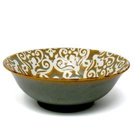 BIA - DMASK FOOTED SERVING BOWL