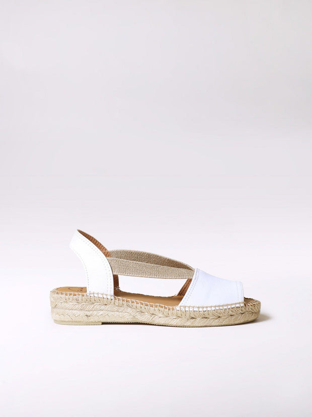 TONI PONS- ETNA FLAT LEATHER ESPADRILLE