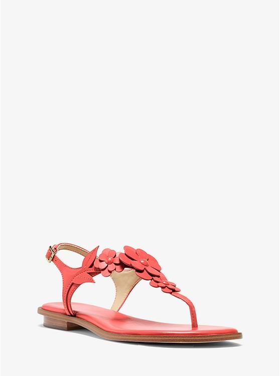 MICHAEL KORS- FLORA APPLIQUE LEATHER SANDAL