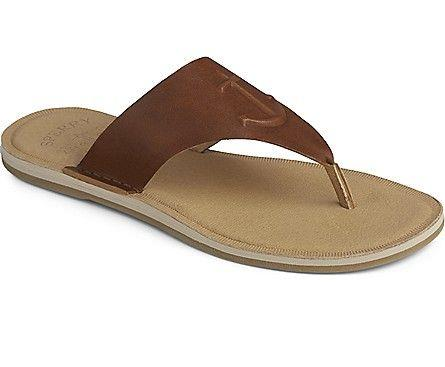 SPERRY- WOMEN`S SEAPORT LEATHER THONG SANDAL