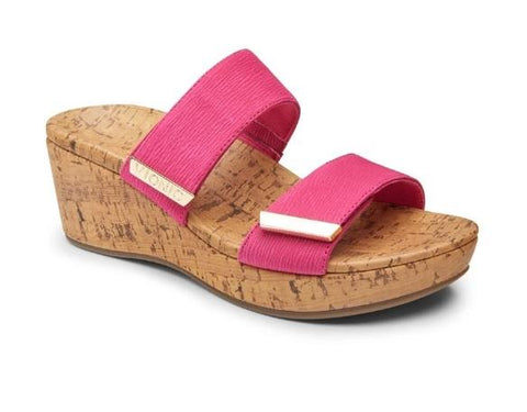 VIONIC PEPPER WEDGE SANDAL PINK SIDE