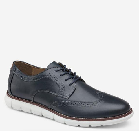 JOHNSTON & MURPHY HOLDEN WINGTIP NAVY SIDE