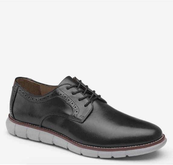 JOHNSTON & MURPHY HOLDEN PLAIN TOE BLACK SIDE