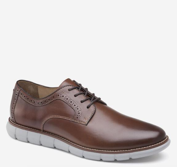 JOHNSTON & MURPHY HOLDEN PLAIN TOE BROWN SIDE