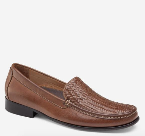 JOHNSTON & MURPHY STOLTZ WOVEN VENETIAN TAN SIDE