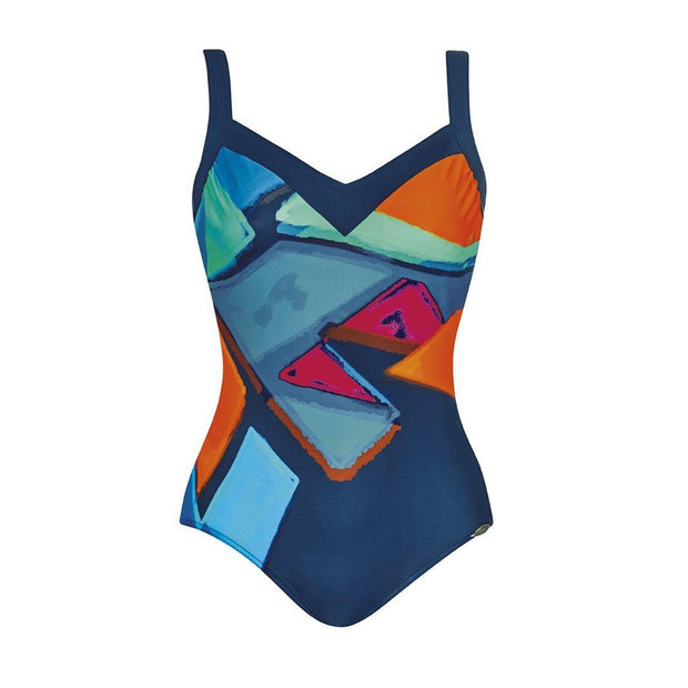 SUNFLAIR - PLUS SIZE PAINTED ONE-PIECE