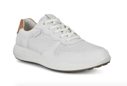 ECCO SOFT 7 RUNNER LACE-UP SNEAKERS WHITE FRONT