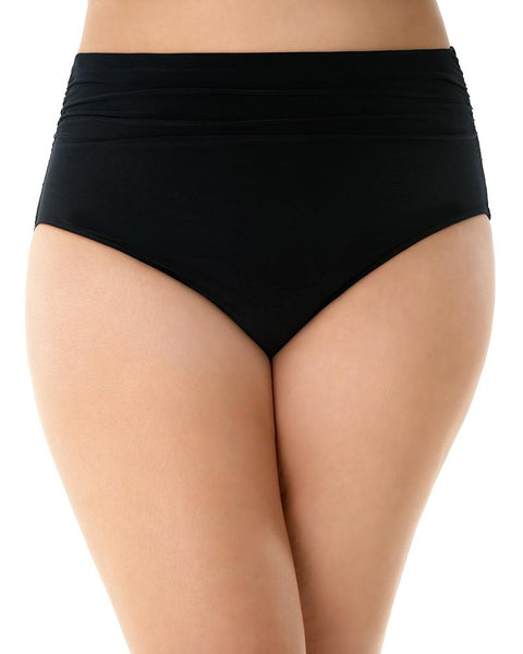 MAGICSUIT WOMEN'S STYLES JERSEY BRIEF WITH SHIRRING BLACK FRONT